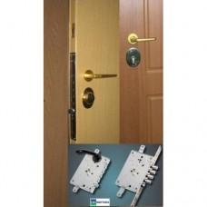 Metāla durvis ar slēdzeni-zirneklis MOTTURA 87.975+cilindra mehānisms