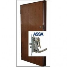 Metāla durvis ar slēdzeni-zirneklis GRANIT + ASSA