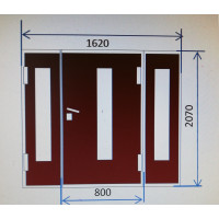Metāla durvju bloks 1620x2080mm