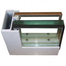 Металлическая рама для окна, с защитными стеклами