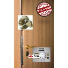 Металлическая дверь с замком-паук CISA 57.535 + ЗАДВИЖКА